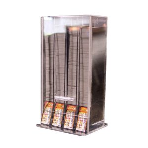 Acrylic Pull Tab and Sweepstakes Ticket Dispenser